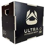 Ultra Fitness Gear 3-in-1 Plyo-Box aus Holz, rutschfest, für Sprung-, MMA-Training, Plyometrie/große Größe: 61 x 50,8 x 40,6 cm