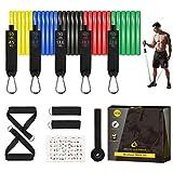 Resistance Bands Trainingsgeräte, Trainieren Fitnessbänder für Männer und Frauen zu Hause, Stapelbar bis 150 Pfund widerstandsbänder für Muskeltraining, Yoga, Pilates