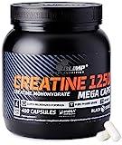 OLIMP- Creatine Monohydrat 1250. Kreatin Kapseln (400Stk). Hochdosiertes Nahrungsergänzungsmittel zum Muskelaufbau