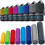 Fit-Flip Sporthandtuch, Reisehandtuch, Microfaser-Badetuch, XXL Strandhandtuch, Sauna Microfaser Handtuch groß (90x180cm dunkelblau)