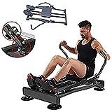 Ffitness FLMD412N Professionelles Rudergerät für Zuhause, hydraulischer Widerstand, Fitness Cardio Total Body Trainer Crunch, Schwarz, Einheitsgröße